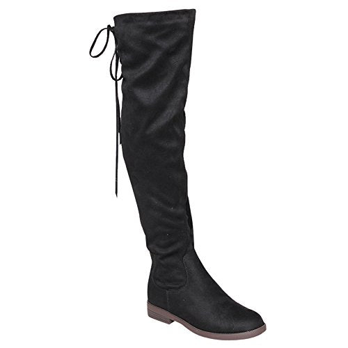 Women's Maggy-1Thigh High Drawstring Low Chunky Heel Boots - Jazame, Inc.