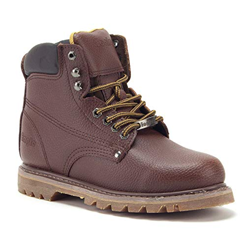Men's 626 Ankle High Water Resistant Leather Construction Safety Work Boots - Jazame, Inc.