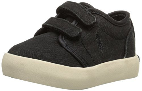 Polo Ralph Lauren Kids Ethan Low EZ Canvas Fashion Sneaker (Toddler) - Jazame, Inc.