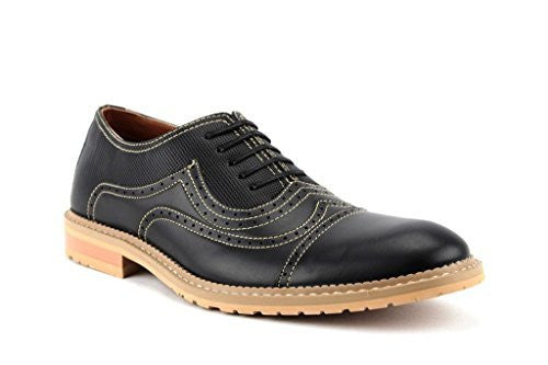 Ferro Aldo Men's 19382LE Cap Toe Stitch Lace Up Oxford Dress Shoes - Jazame, Inc.