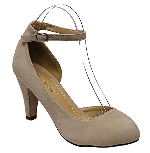 Women's Kimmy Round Toe Low Heel Mary Jane Dress Pumps - Jazame, Inc.