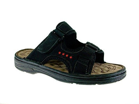 J's Awake Men's Marcos-08 Slip On Comfort Open Toe Sandals
