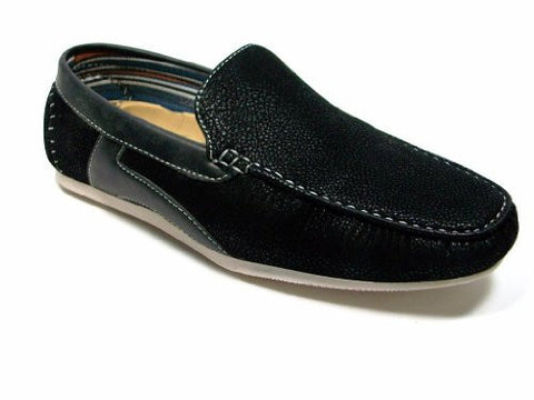 New Mens Suedette Slip On Driving Shoes