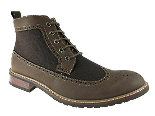 New Men's 806278A Denim Perforated  Wing Tip Dress Boots - Jazame, Inc.