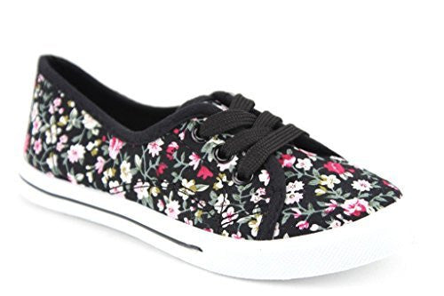 Girls Adore-32K Casual Low Rise Canvas Fashion Sneaker Shoes - Jazame, Inc.