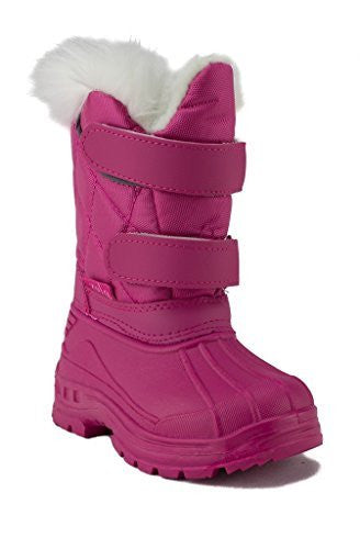 Girls BHD-04I Toddlers Double Velcro Strap Fur Lined & Cuff Winter Boots - Jazame, Inc.
