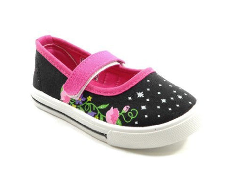 Girls Ositos 413K Floral Mary Jane Flat Shoes - Jazame, Inc.