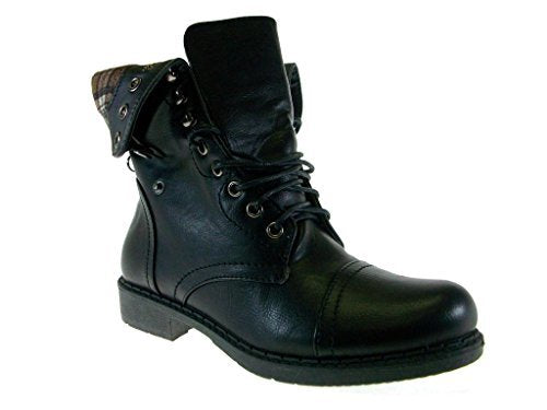 Womens' Vancover-04 Flannel Lined Military Combat Inspired Boots - Jazame, Inc.