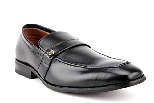 Delli Aldo Men's 19501 Classic Round Toe Slip on Loafers Dress Shoes - Jazame, Inc.