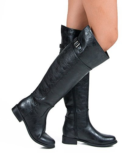 Women's Rider-82 Thigh High Riding Boots - Jazame, Inc.