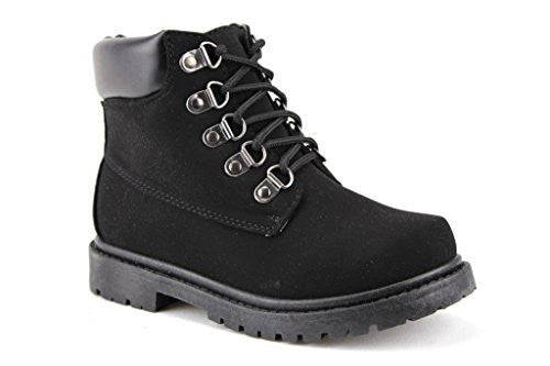 Kids Cay-06 Padded Ankle High Lace Up Fashion Boots - Jazame, Inc.