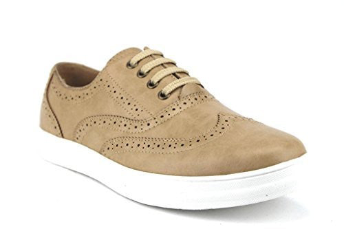 Scans Men's 63305 Classic Wing Tip Lace up Sneakers - Jazame, Inc.