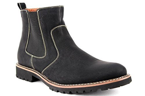 Ferro Aldo Men's 506020 Ankle High Chelsea Dress Casual Boots - Jazame, Inc.