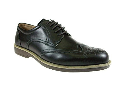 Men's Edison-17 Wing Tip Lace Up Oxford Dress Shoes - Jazame, Inc.