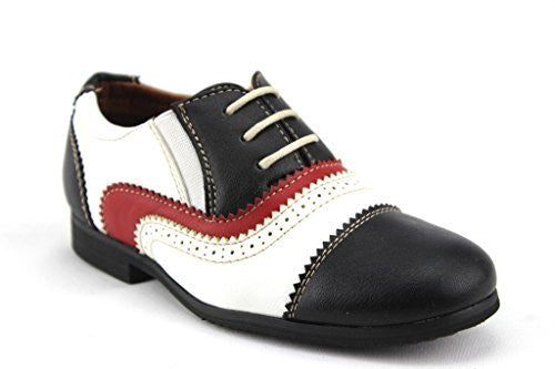 New Toddler Boys I-355 Formal Tuxedo Cap Toe Dress Shoes - Jazame, Inc.