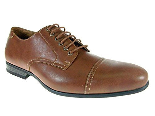 Ferro Aldo Men's 19350 Derby Cap Toe Lace Up Oxfords Dress Shoes - Jazame, Inc.