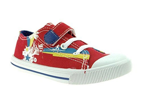 Kids Pinky Poppy03E Canvas Multi Colored Sneakers Shoes
