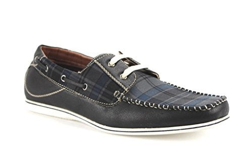Polar Fox Men's 30187B Plaid Design Lightweight Casual Boat Shoes - Jazame, Inc.