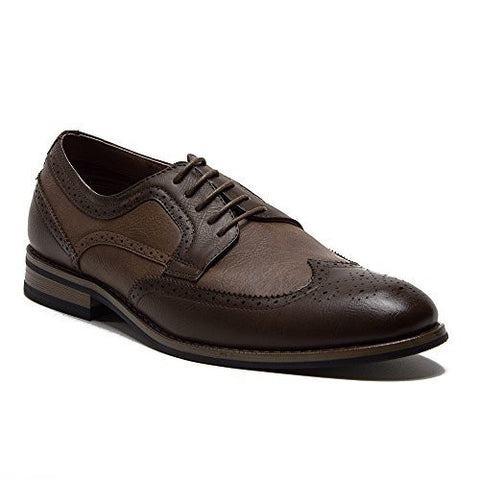 Ferro Aldo Men's 19567L Wing Tip Brogue Blucher Classic Dress Oxfords Shoes - Jazame, Inc.