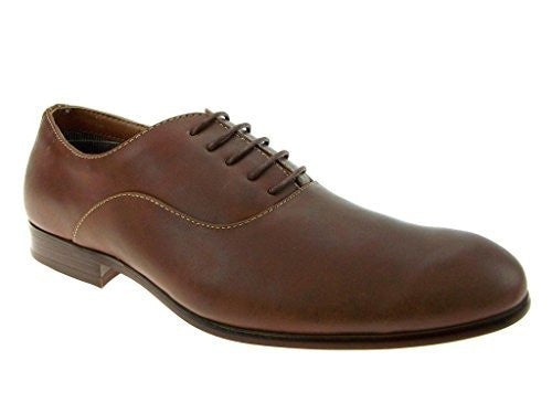 Ferro Aldo Men's 139255 Bal-Type Distressed Toe Lace Up Oxfords Shoes - Jazame, Inc.