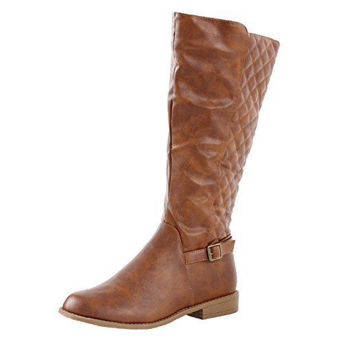 Women's Lahore Quilted Calf High Ridding Boots - Jazame, Inc.