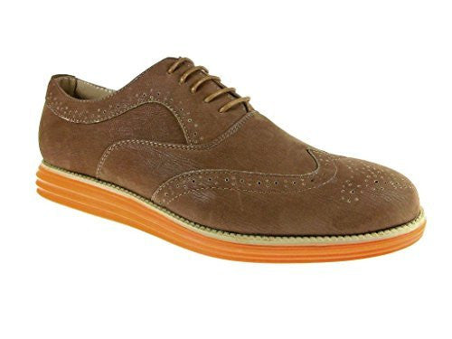 Men's Henry-21 Wing Tip Lace Up Oxford Dress Shoes - Jazame, Inc.