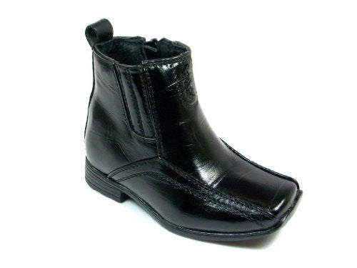 Infant Toddler Boys Black Ankle High Dress Boots - Jazame, Inc.