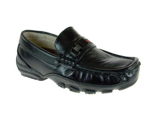 Easy Strider Boy's 23717 Casual Dress Driving Shoe with Stripe & Buckle - Jazame, Inc.