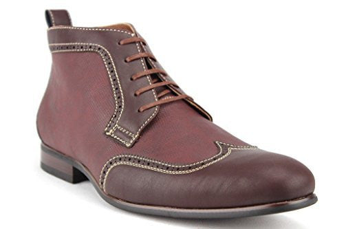 Ferro Aldo Men's 806383 Wing Tip Perforated Lace Up Dress Boots - Jazame, Inc.