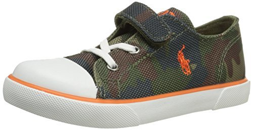 Polo Ralph Lauren Kids Carson EZ Army Nylon Sneaker Shoes