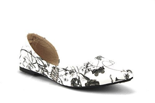Women's Iynx Candy-1 Open Side D'Orsay Flat Shoes - Jazame, Inc.