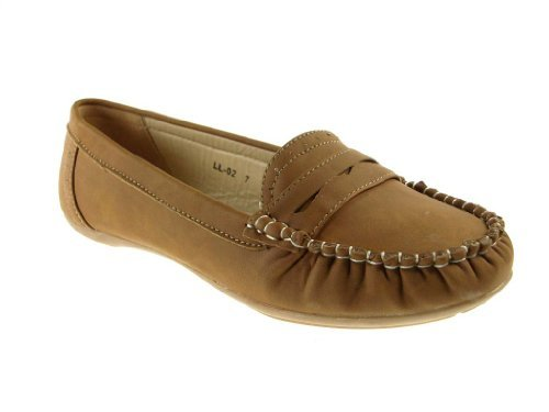Women's LL-02 Slip On Moccasin Penny Loafer Shoes