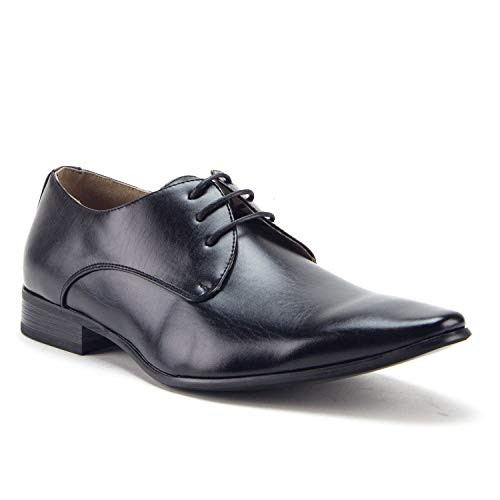 Men's Classic Pointy Toe Derby Lace Up Oxfords Dress Shoes - Jazame, Inc.