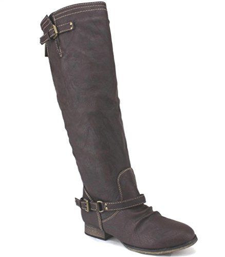 Womens Outlaw-11 Knee High Zipped Riding Boots - Jazame, Inc.
