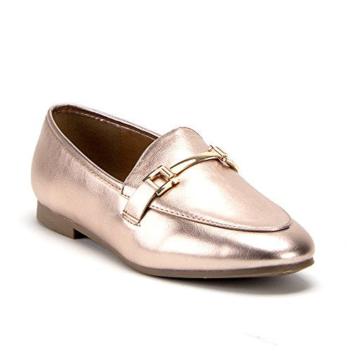 Women's Hoppy-1 Horsebit Slip On Slides Flats Loafers Dress Shoes - Jazame, Inc.