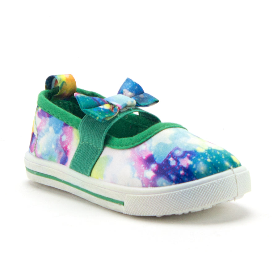 Girls Cay-02I Toddlers Classic Space Galaxy Flats Slip On Canvas Sneakers Shoes