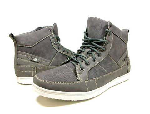 Men's Delli Aldo Lace Up High Top Fashion Sneakers 510 Grey-168 - Jazame, Inc.