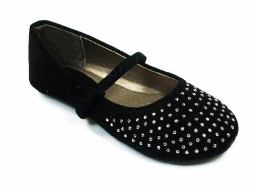 Girls 1006-SU-132 Toddlers Studded Toe Ballerina Flat Shoes - Jazame, Inc.