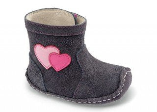 See Kai Run Girl's F14 Miriam Suede Heart Soft Sole Boot
