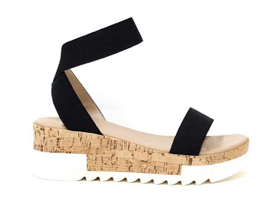 Women's Espadrille Flatform Platform Stretch Ankle Strap Sandals