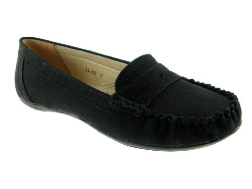 Women's LL-02 Slip On Moccasin Penny Loafer Shoes - Jazame, Inc.
