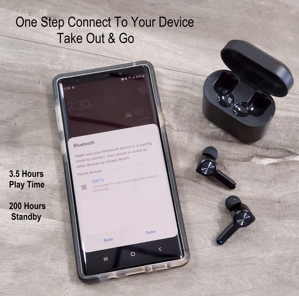 TWS Mini in Ear Wireless Sport Waterproof Handsfree Earbuds Bluetooth 5.0, One Step Paring Noise Cancelling Stereo Sound & Mic Works With iPhone or Android - Jazame, Inc.
