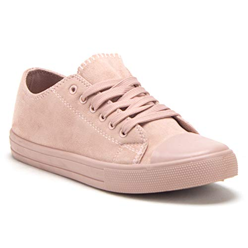 Women's Belle-1 Chuck Athleisure Sneakers Casual Lace Up Tonal Fashion Kicks Shoes - Jazame, Inc.