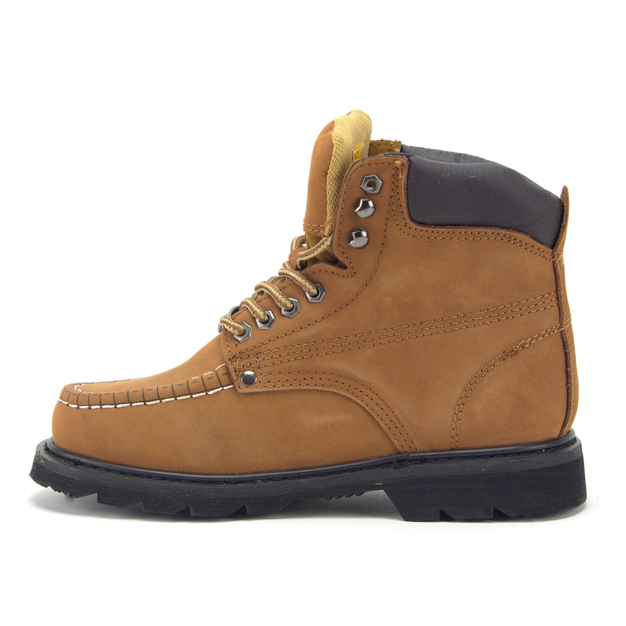 Jazamé Men's Tall Leather Moc Toe Outdoor Logger Construction Safety Work Boots