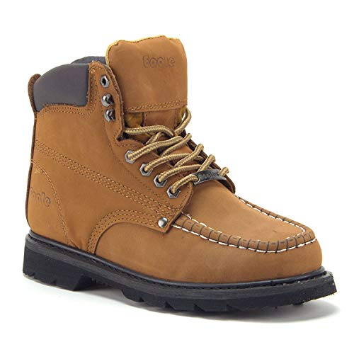 Jazamé Men's Tall Leather Moc Toe Outdoor Logger Construction Safety Work Boots - Jazame, Inc.