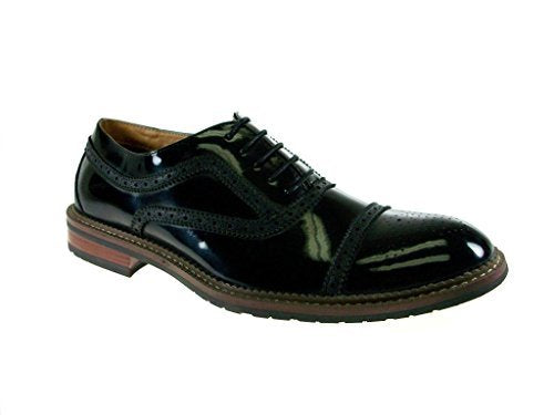 Men's 139005A Cap Toe Puncture Lace Up Oxford Dress Shoes - Jazame, Inc.