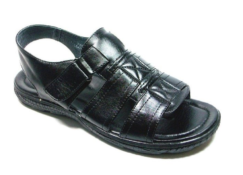 Mens Majestic Open Toe Back Sling Caged Sandals 72587 Black
