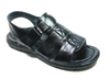 Mens Majestic Open Toe Back Sling Caged Sandals 72587 Black - Jazame, Inc.
