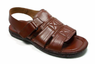 Mens Majestic Open Toe Back Sling Caged Sandals 72587 Chocolate - Jazame, Inc.