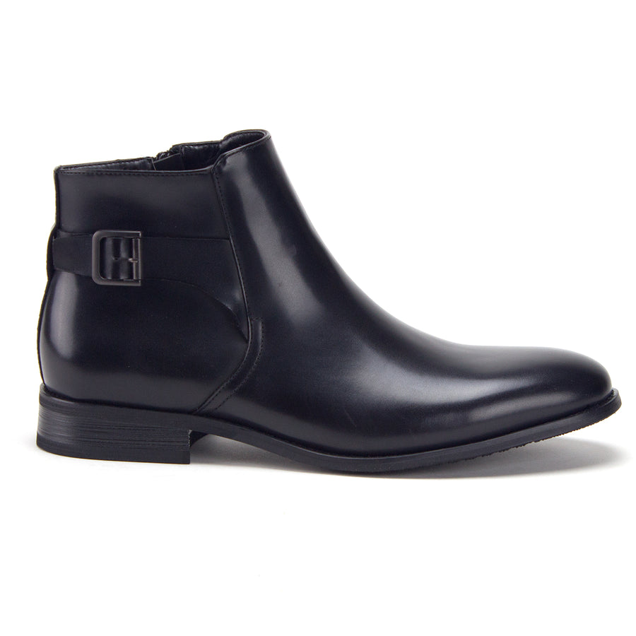 Men's 28932 Sleek Moto Riding Tall, Ankle High Chelsea Dress Boots